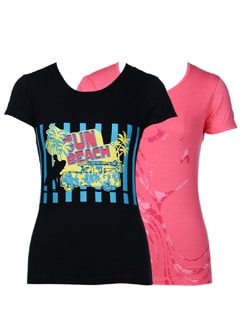 Casual printed tees-pack of 2 - STYLE QUOTIENT BY NOI