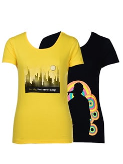 Quirky t-shirts- pack of 2 - STYLE QUOTIENT BY NOI