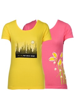Super Cool Tees-pack Of 2 - STYLE QUOTIENT BY NOI