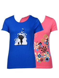Casual t-shirts -pack of 2 - STYLE QUOTIENT BY NOI