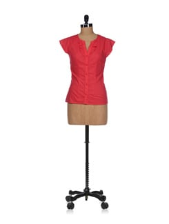 Bright Red Cotton Top - Osia Italia