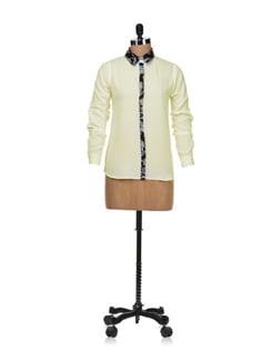Trendy Off White Shirt - Besiva