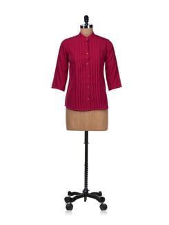 Pink Fever- Pleated Shirt - Besiva