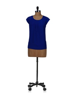 Stylish Royal Blue Top - Besiva