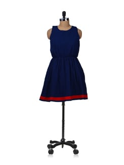 Trendsetter- Navy Blue Dress - Besiva
