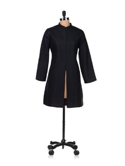 Trendy Black Quilted Jacket - Vedanta