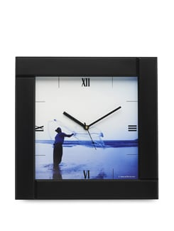 "Art Print Wall Clock - ""Fishing"" By IPBlack - Artfairie"