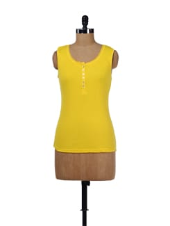 Cotton Yellow Tank Top - Evolution