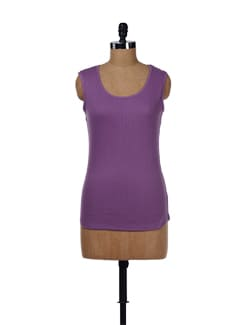 Purple Cotton Tank Top - Evolution