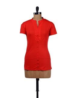 Vibrant Red Tunic Top - Evolution