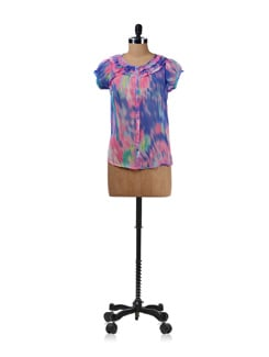 Multicoloured Sheer Shirt - Aamod
