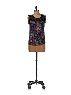 Multicoloured Graphic Top - Aamod