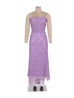 Elegant Purple Chikankari Kurta - Ada