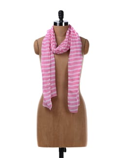 Ling Pink Striped Stole - Femella