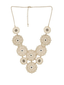 Chunky Gold Circular Necklace - THE PARI