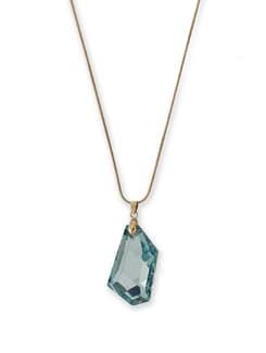 Blue Crystal Locket Necklace - THE PARI