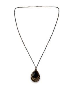 Antique Black Bead Necklace - THE PARI