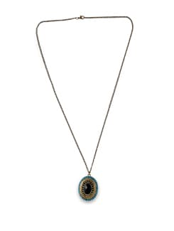 Oval Ethnic Pendant - THE PARI