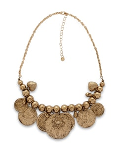 Gold Disc Necklace - THE PARI