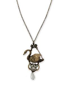 Golden Swan Necklace - THE PARI