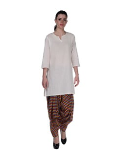 Multicoloured Check Patiala Salwar - Home Of Impression
