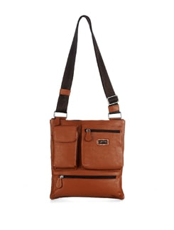 Tan Brown Sling Bag - ADAMIS