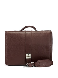 Briefcase Style Office Bag- Brown - ADAMIS
