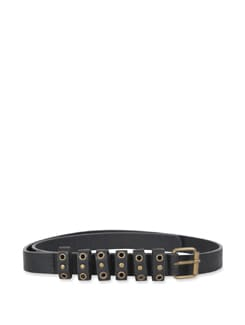 Black Multi Looped Belt - M TV