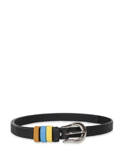 Black Multi Colour Loop Belt - M TV