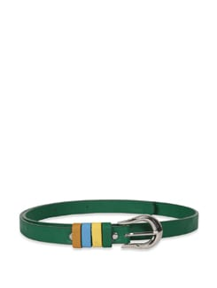 Dark Green Multi Colour Loop Belt - M TV