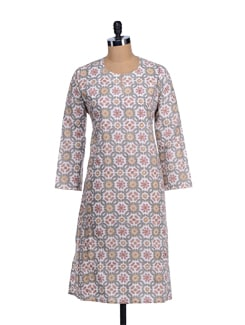 Block Printed Long Kurta - KILOL