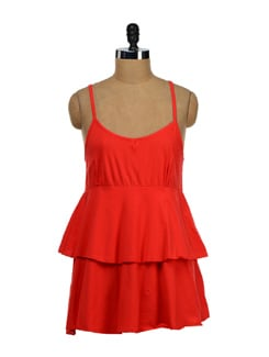 Strappy Red Tier Top - NUN