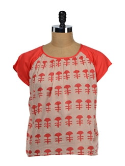 Tea Berry & Orange Printed Top - NUN