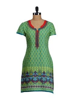 Majestic Green Printed Kurta - SATTYAA