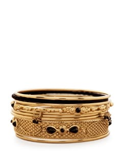 Statement Gold Bangles - Accessory Bug