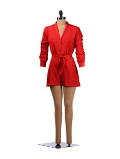 Poppy Red Ravishing Romper - Miss Chase