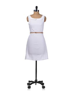 White Peter Pan Summer Dress - Miss Chase