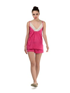 Pink Shorts And Tank Night Wear - Miss Chase