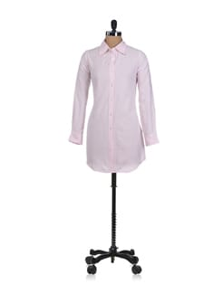Striped Pink Boyfriend Sleep Shirt - Miss Chase