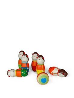 Multicoloured Monkey Bowling Set - Vividha