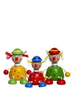 Colourful Squeaky Clowns - Set Of 3 - Vividha