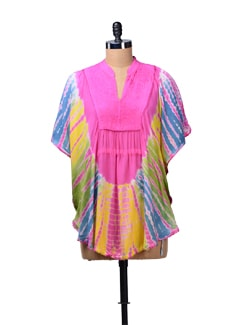 Pink Tie Dye Kaftan Top - MOTHER EARTH