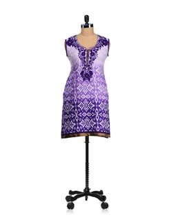 Elegant Purple Embroidered Kurta - WILD WOMAN