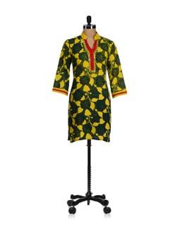 Sunshine Yellow Block Printed Kurta - WILD WOMAN