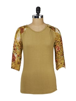 Olive Green Back Keyhole Top - MARTINI