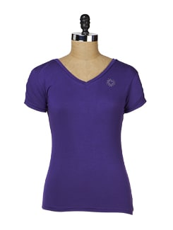Purple Slim Fit Heart Tee - MARTINI