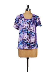 Purple Summer Cool Bow Top - MARTINI