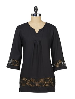 Black Lace Long Tunic - MARTINI