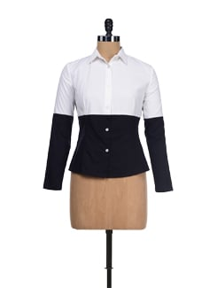 Classic Black & White Cotton Shirt - I KNOW By Timsy & Siddhartha