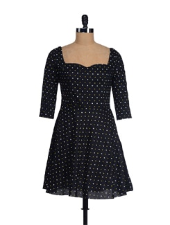 Hearty Black Sweetheart Neck Dress - I KNOW By Timsy & Siddhartha